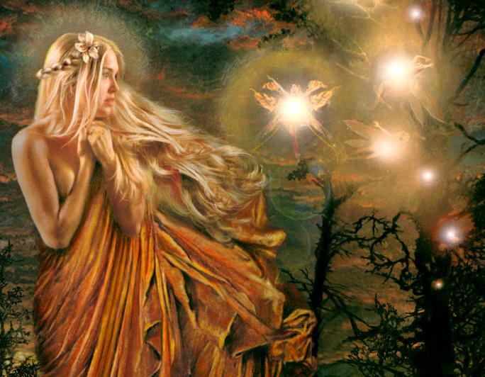 fairy sparkling blonde windswept