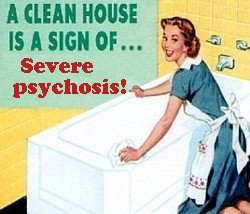 a clean house is a sign of sever psychosis