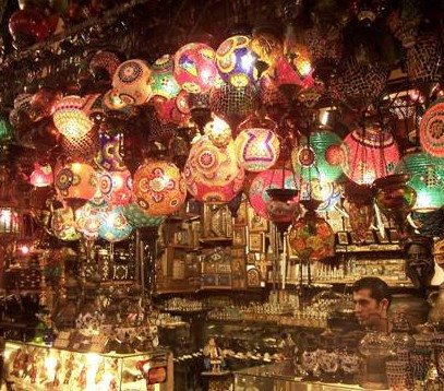 istanbul grand bazaar lanterns james bond