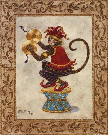 monkey symbol drum fez