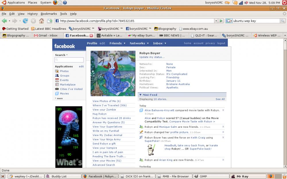 approx 2007 facebook profile visual