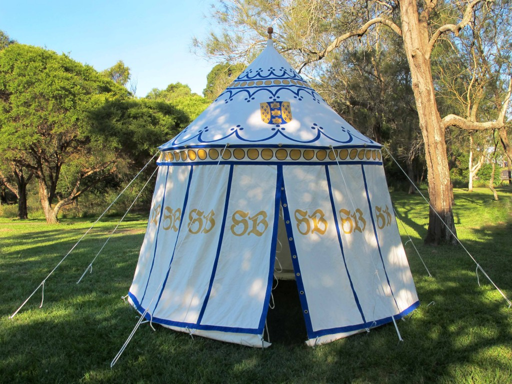 medieval tent painted