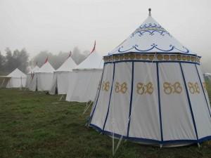 Painted Medieval Pavilion Sabine du Bourbonnais