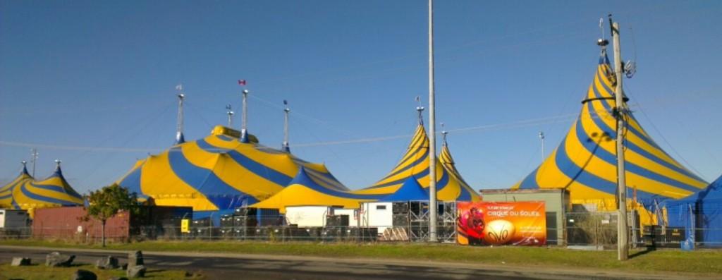 big top tent alegria dralion saltimbanco