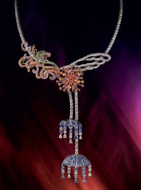 Boucheron Colored sapphires uniqe