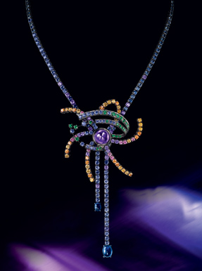 Boucheron colored sapphires limited edition