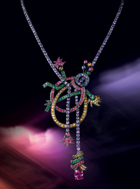 Boucheron limited edition only two sapphires coloured