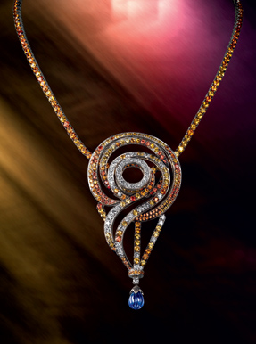 Boucheron Paris sapphire coloured souvenir