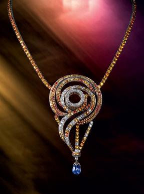 Boucheron Paris sapphire coloured souvenir