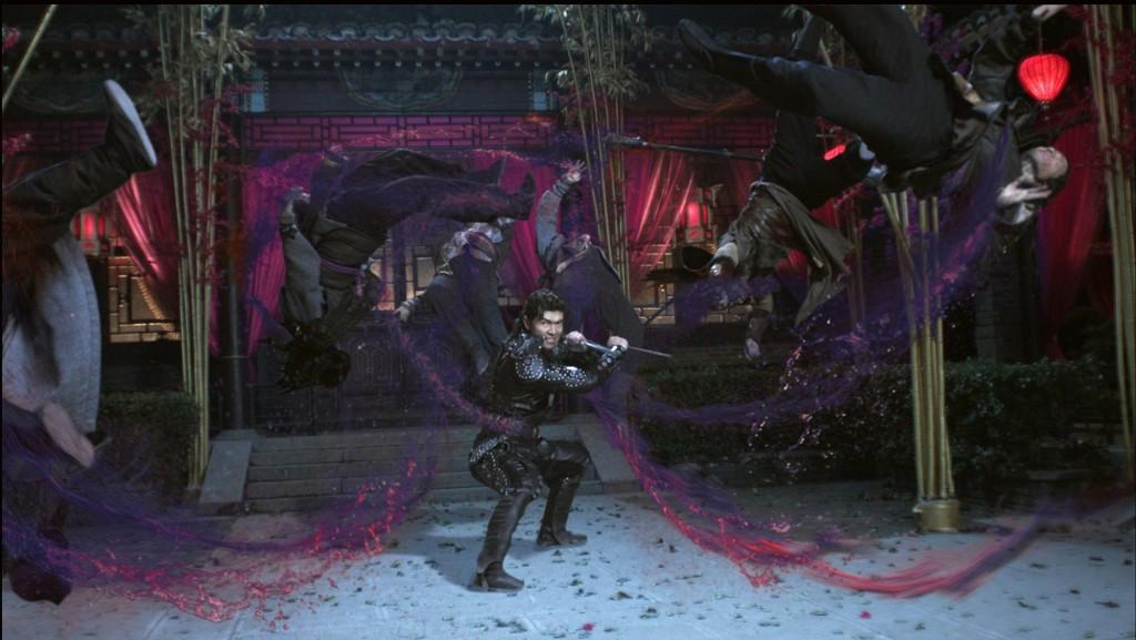 blood spray gore gory martial arts scene fight