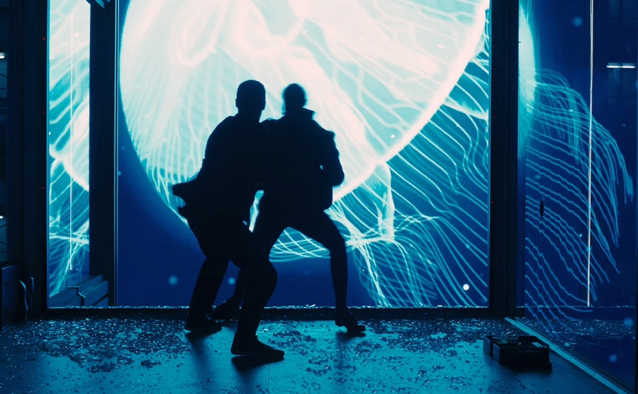 skyfall jellyfish fight scene