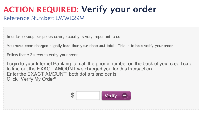 order delays due to verification process
