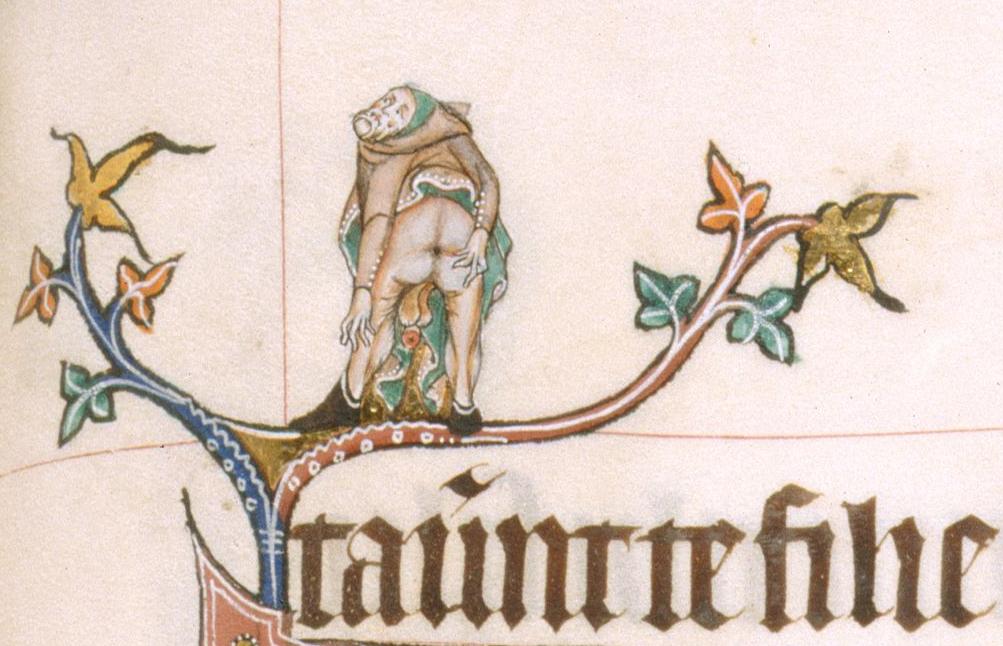 unusal medieval manuscript solomon arsehole