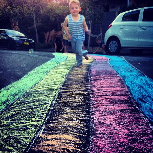 DIY rainbow 12