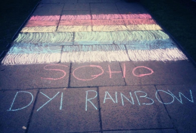 DIY rainbow soho