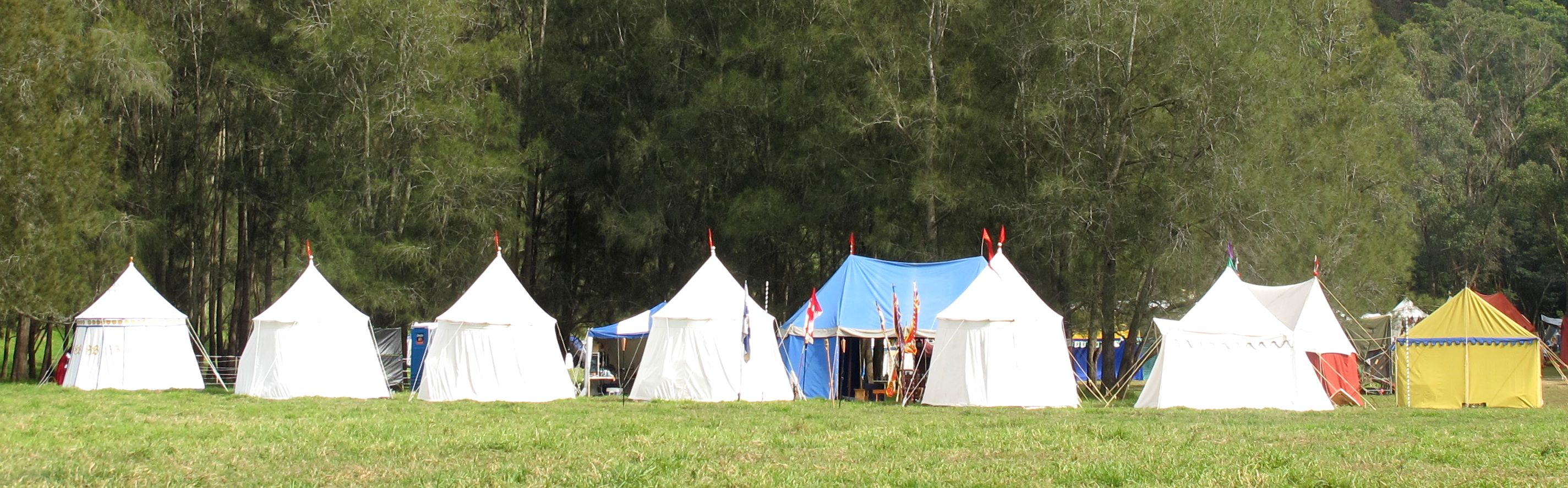 medieval camping camp site
