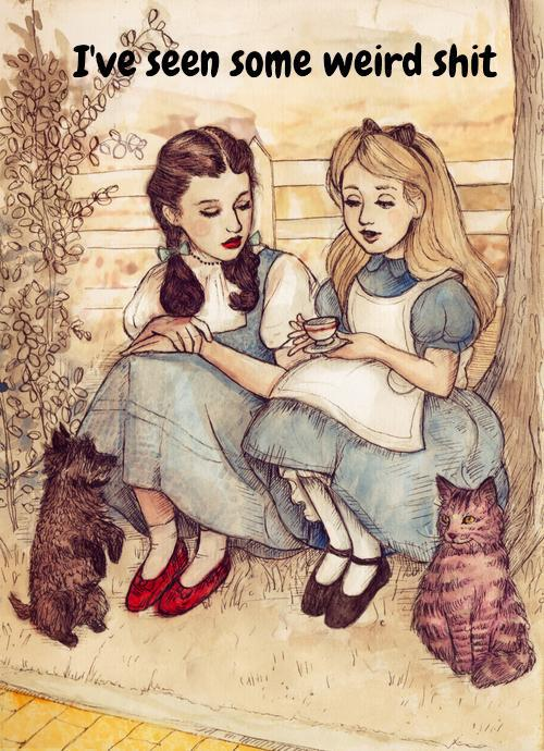 alice in wonderland dorothy wizard of oz