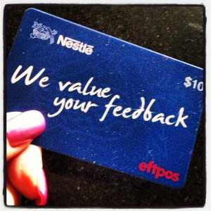 nestle complain feedback gift card