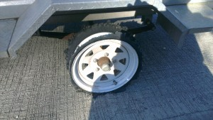tyre tire blow out highway trailer