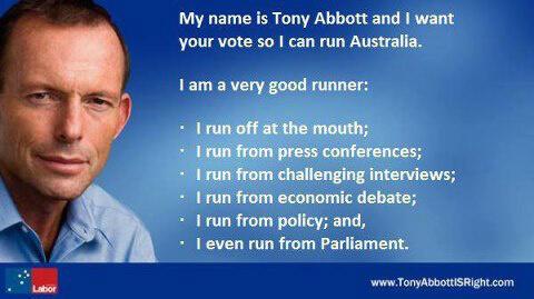 abbott runner runs from parliament