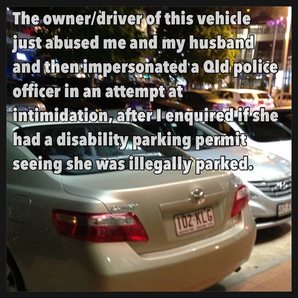 illegally parked impersonating a police officer