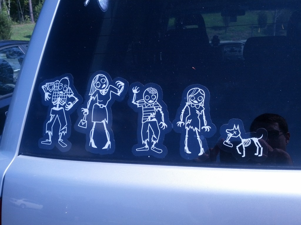 family zombies car stickers