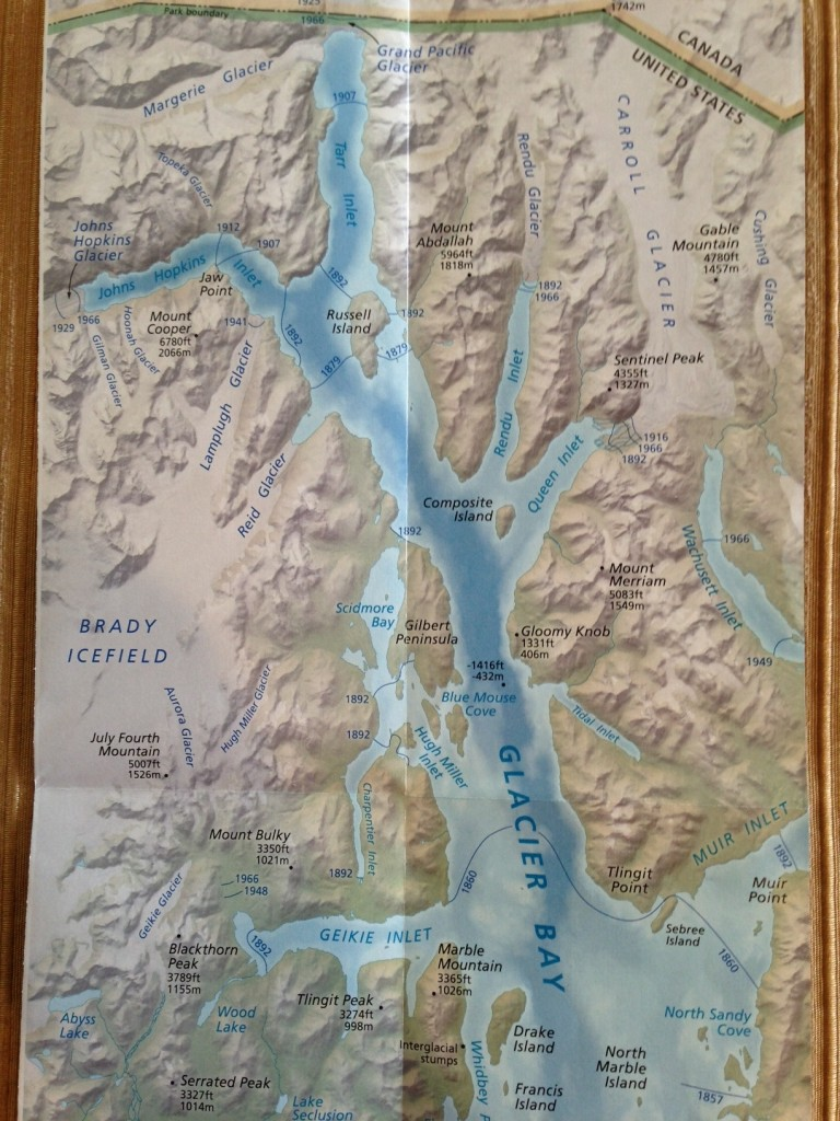 glacier bay map