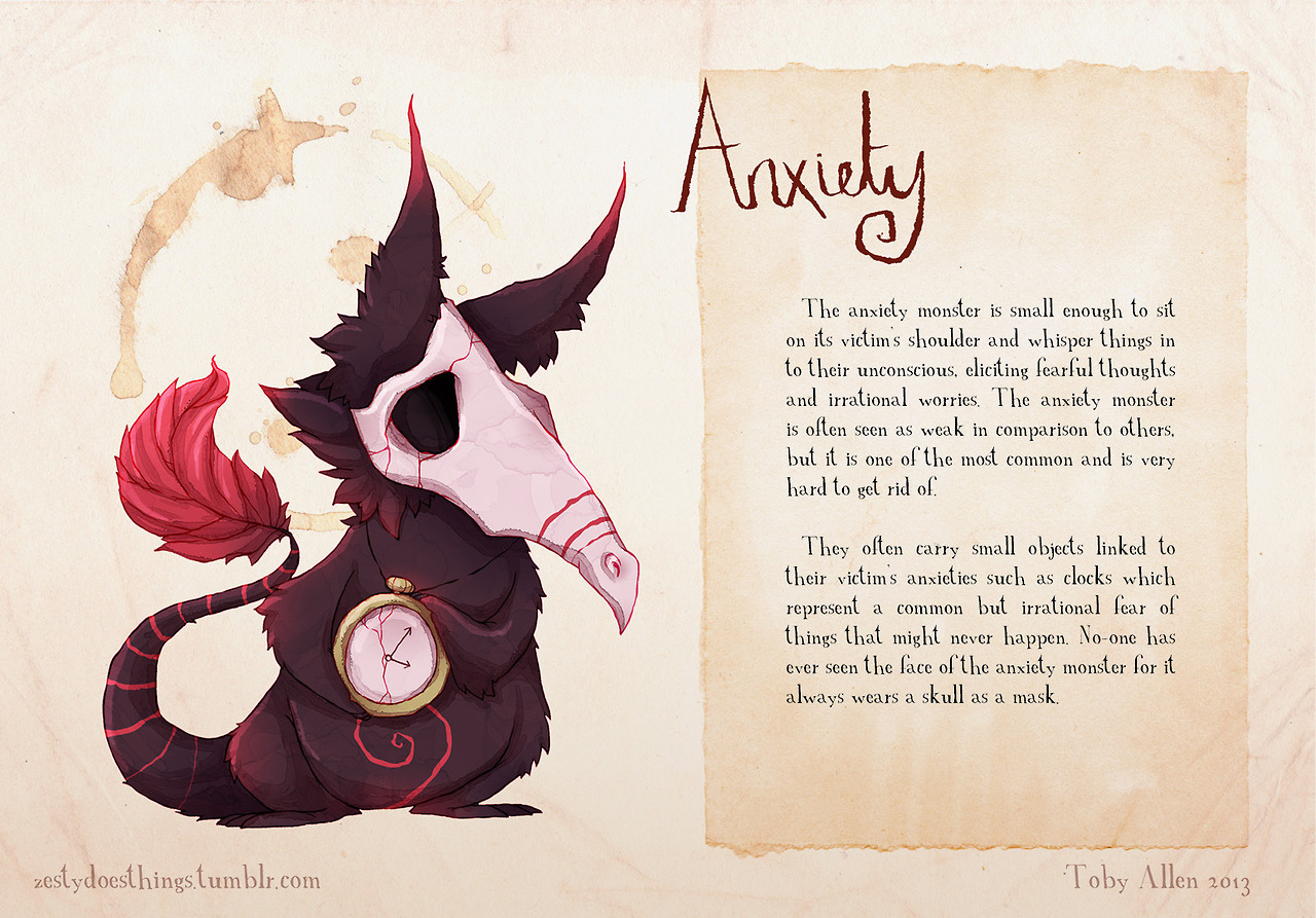 mental disorder monsters anxiety