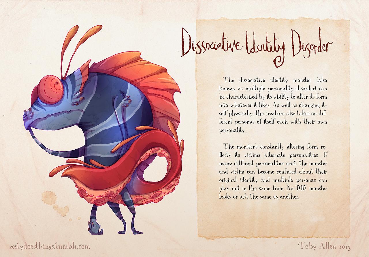 mental disorder monsters disassociative