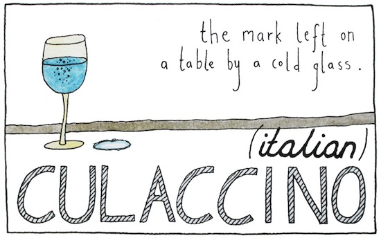 untranslatable words culaccino