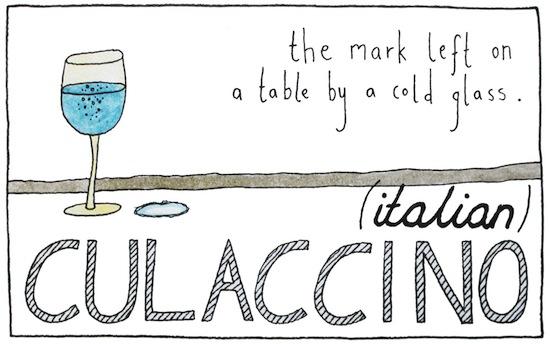 untranslatable words culaccino