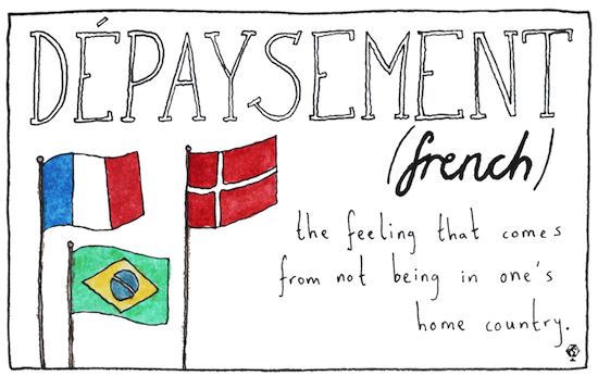 untranslatable words depaysement