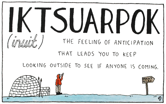 untranslatable words iktsuarpok