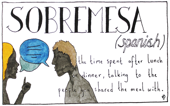 untranslatable words sombremesa