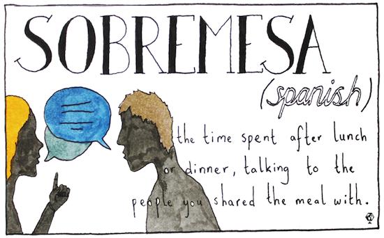 untranslatable words sombremesa