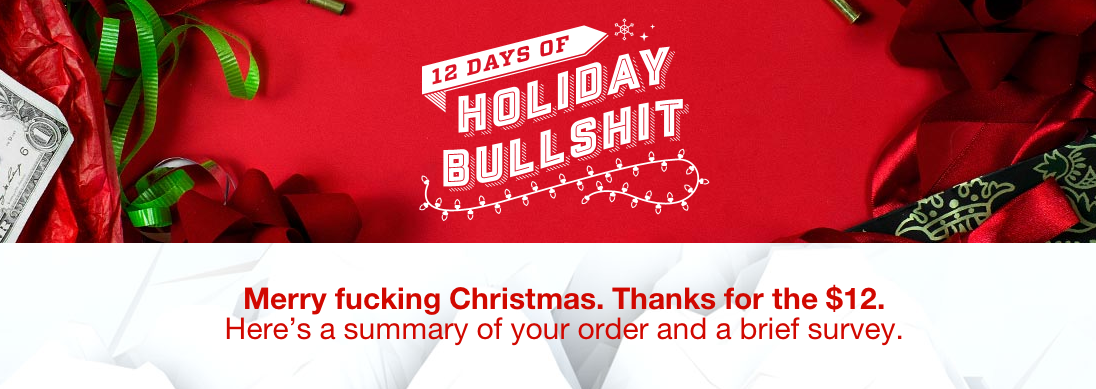 cards against humanity holiday bullshit