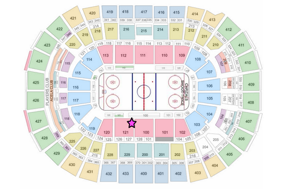 Verizon Washington Seating Chart