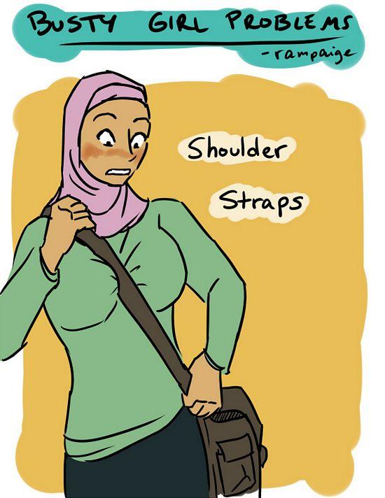 busty girl problems shoulder straps