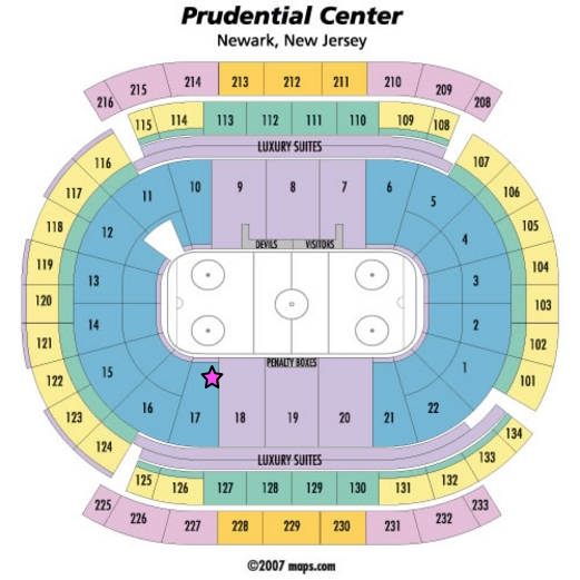 prudential centre new jersey seating_chart