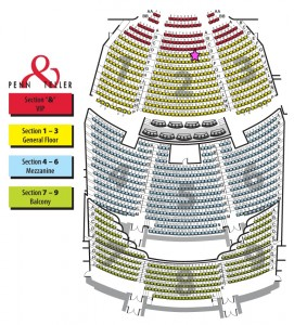 penn and teller Seating-Chart