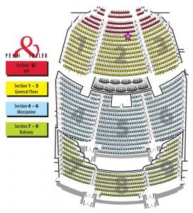 penn and teller Seating-Chart