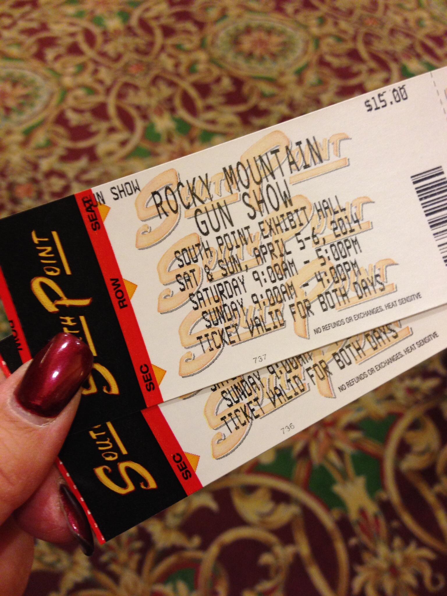 Las Vegas gun show tickets