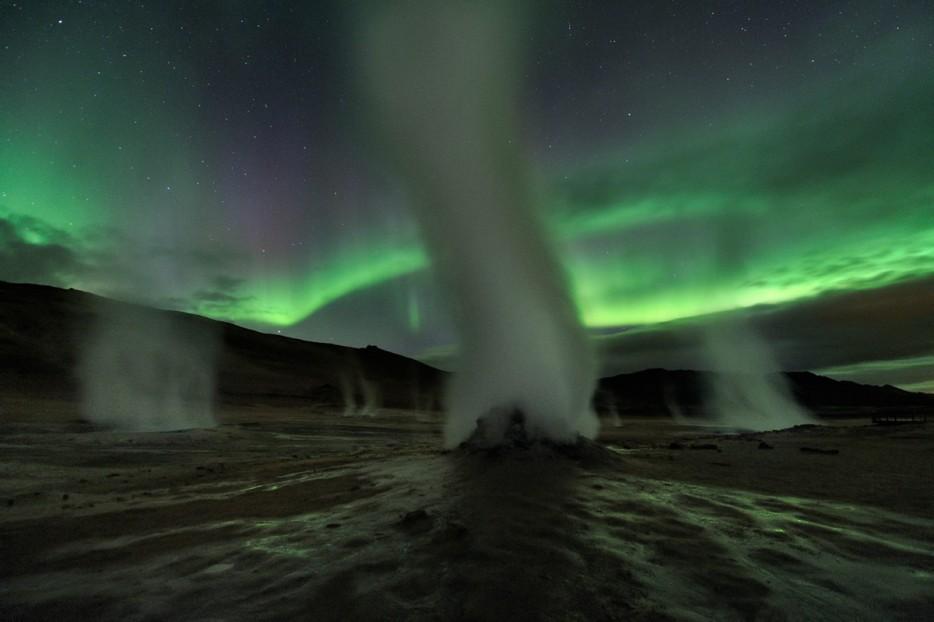 Steam Towers Iceland Hverir