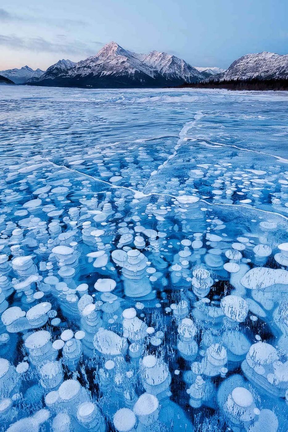 frozen methane bubbles 1
