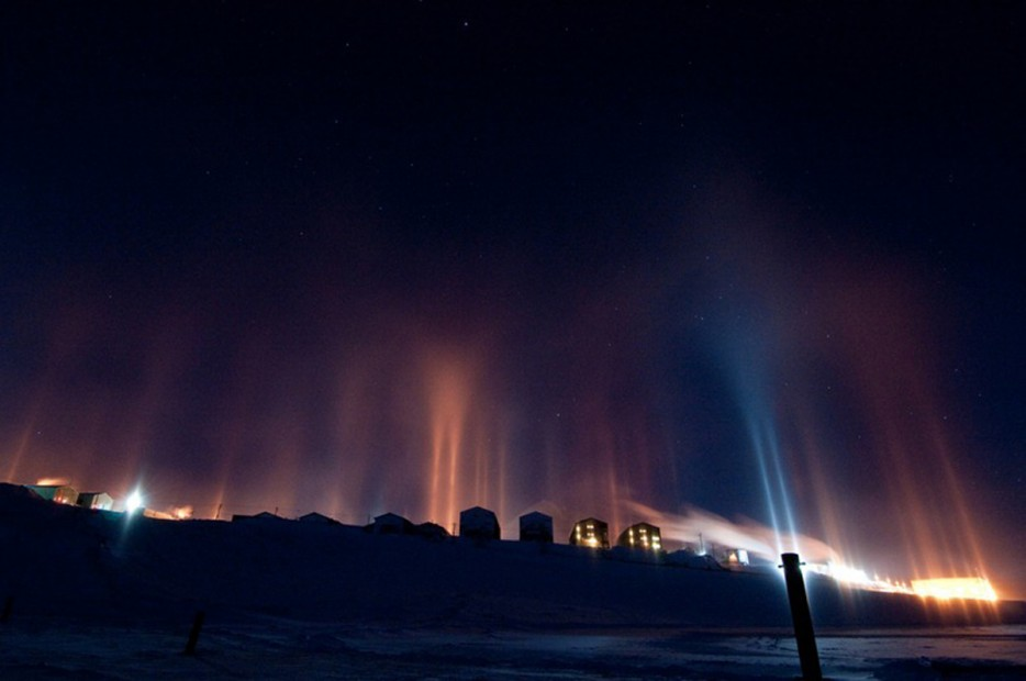 light pillars russia 1