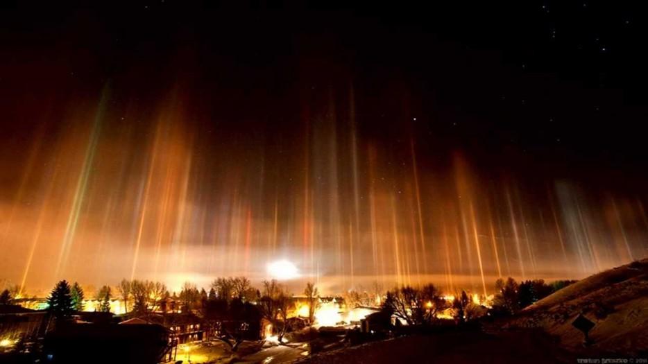 light pillars russia