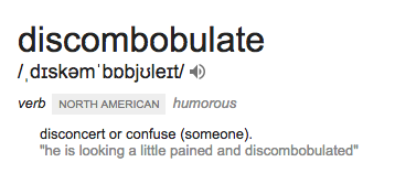 discombobulate discombobulation