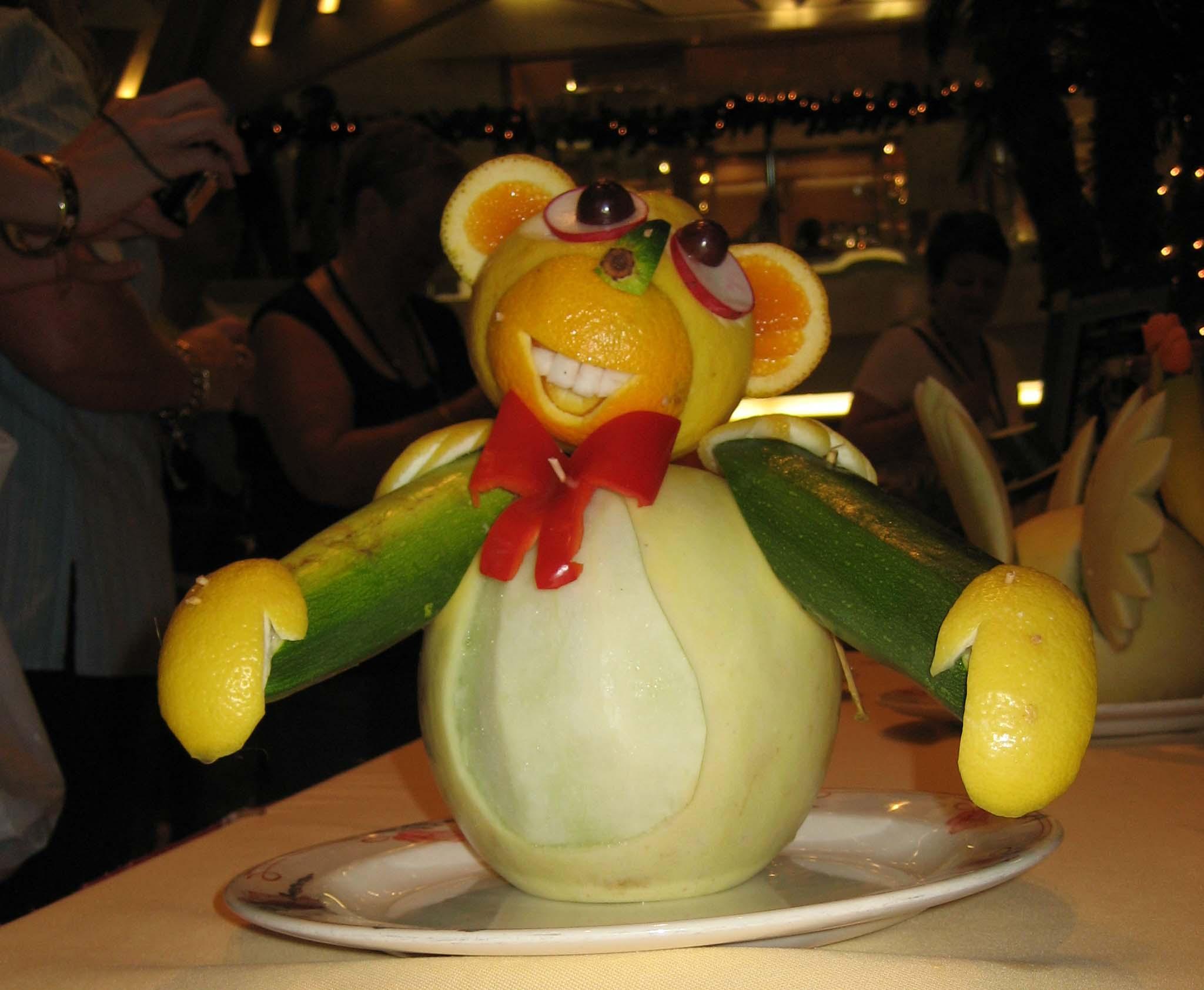 SA fruit carving monkey