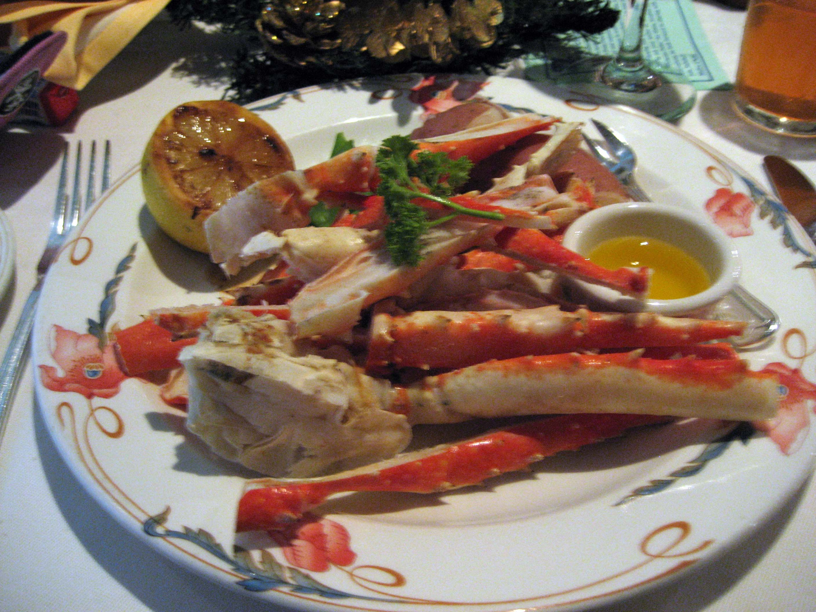 Kingcrab legs with Drawn butter