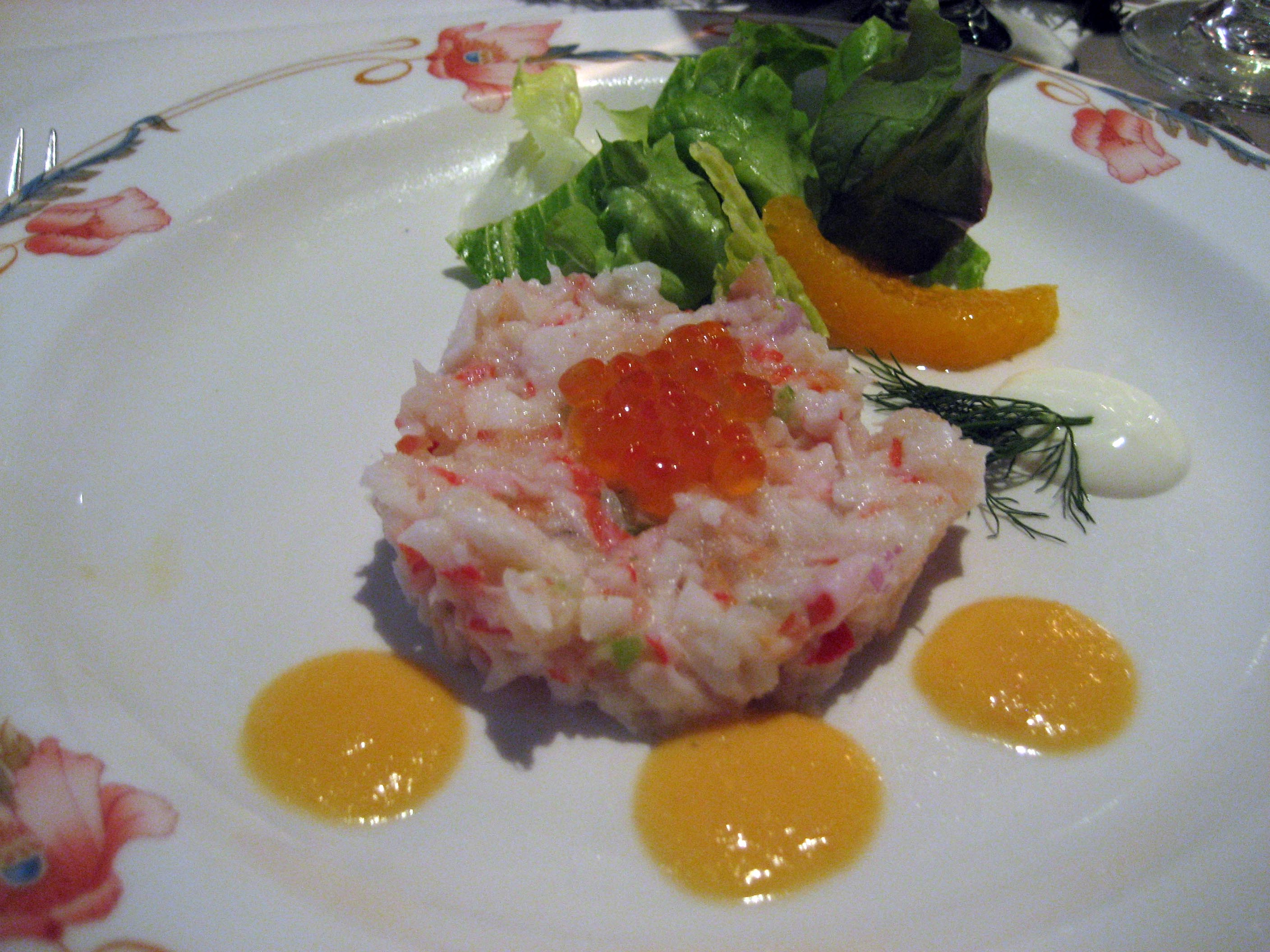 Kingcrab and Prawn Salad with Papaya